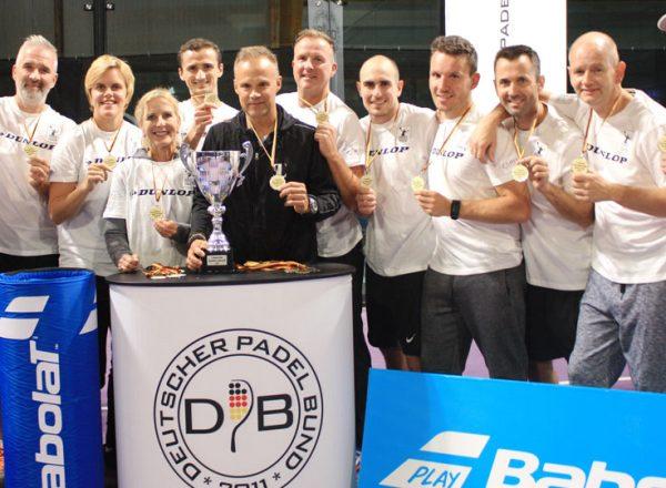 Team Essen gewinnt die 1. Deutsche Padel Mannschafts-Meisterschaft